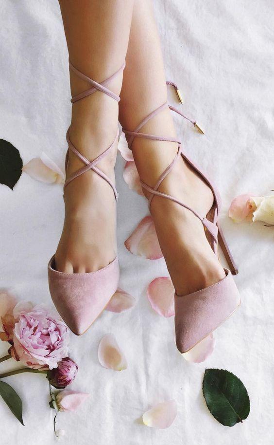 sapato rosa blush