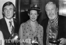 Chris Timothy, Carol and Peter Ustinov collecting Variety Club Awards