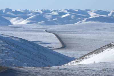 The only Canadian road to the Arctic sea: Dempster Hwy, Yukon and NWT.