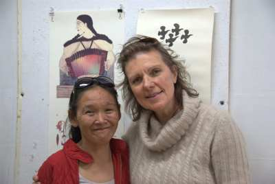 The pleasure of meeting, Inuit artist Shuvinai Ashoona in Cape Dorset