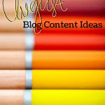 Blog Content Ideas - Carolina Blogging - August