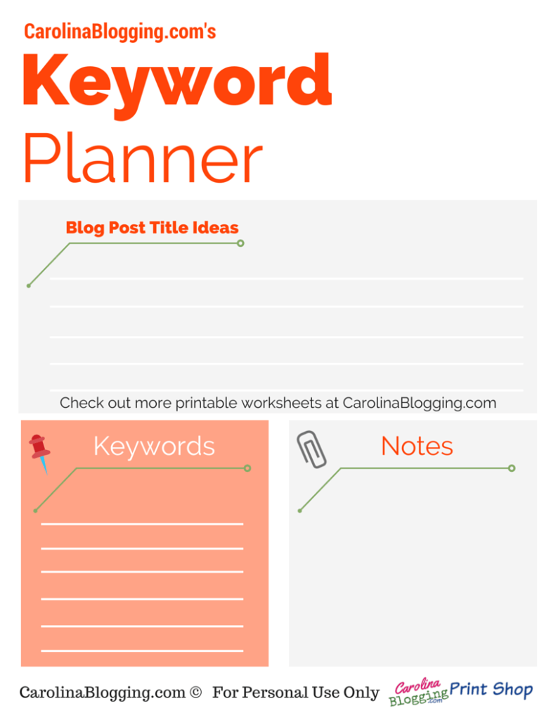 worksheet Keyword Worksheet keyword planner carolina blogging orange