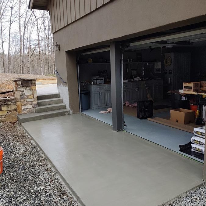 Concrete Pad & Steps