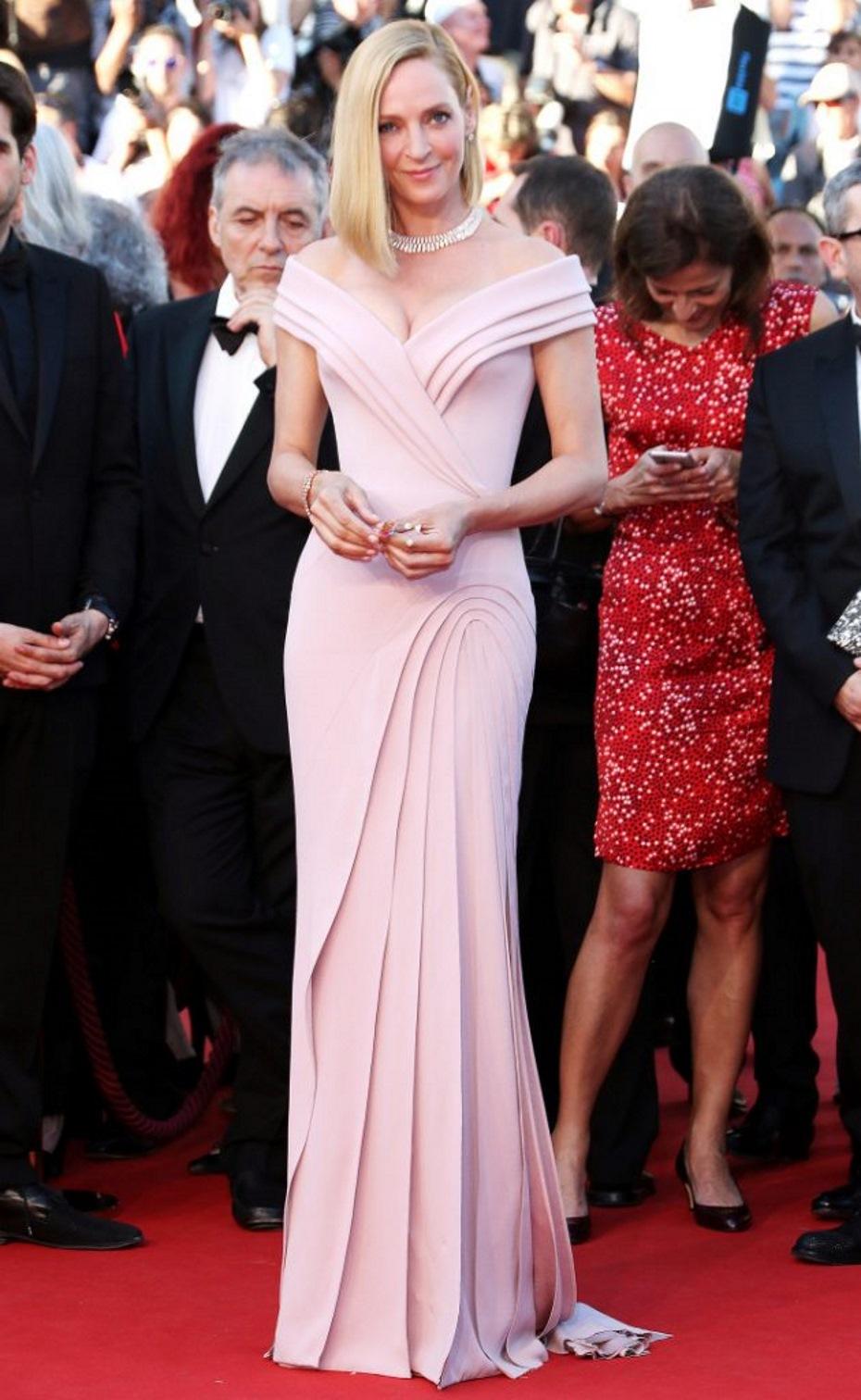 Uma thurman look Cannes 2017