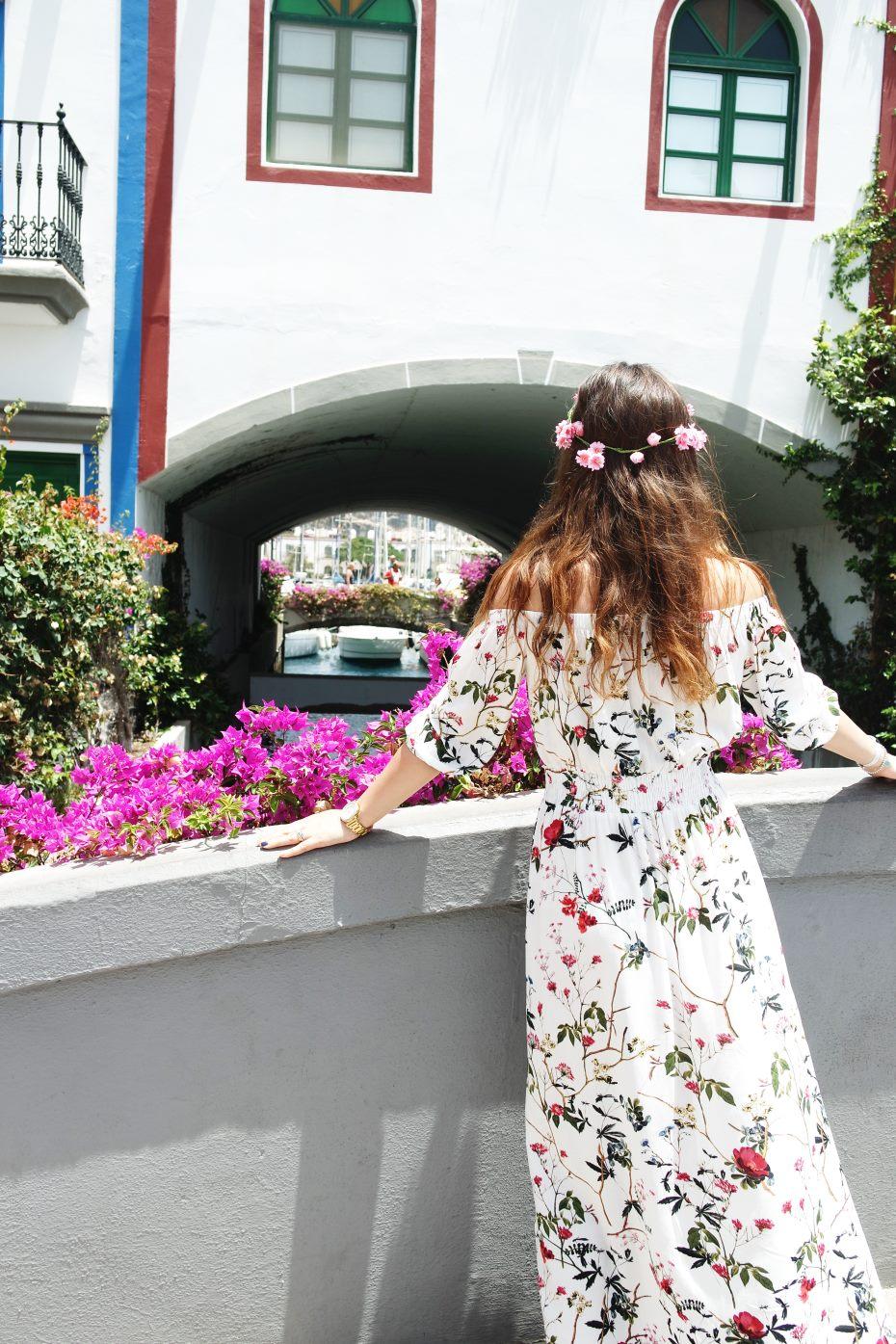 Abito lungo fiori