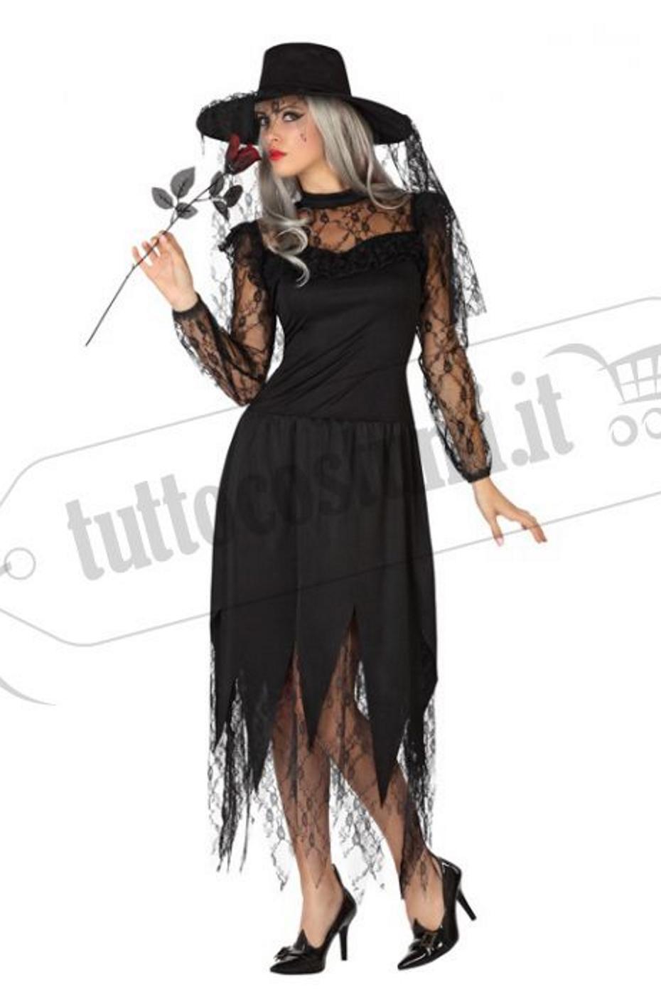 Vedova nera vestito halloween