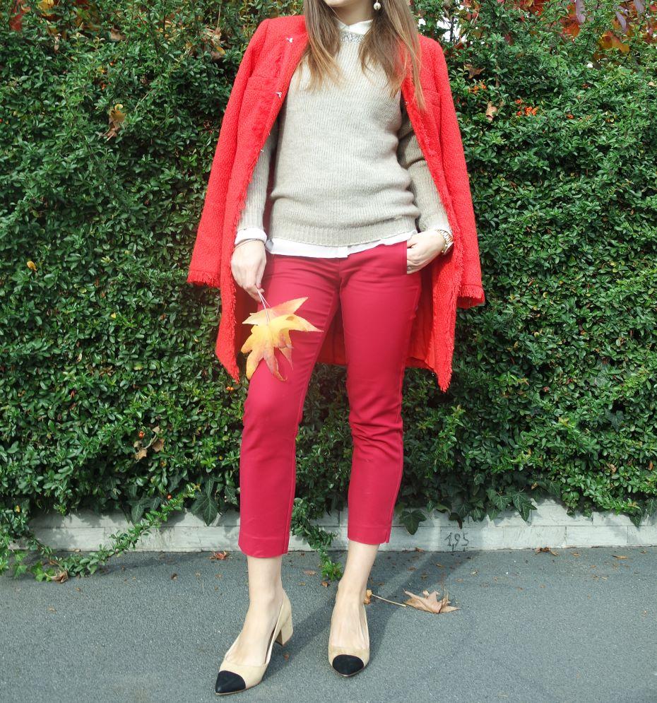 Cappotto e pantaloni rosso