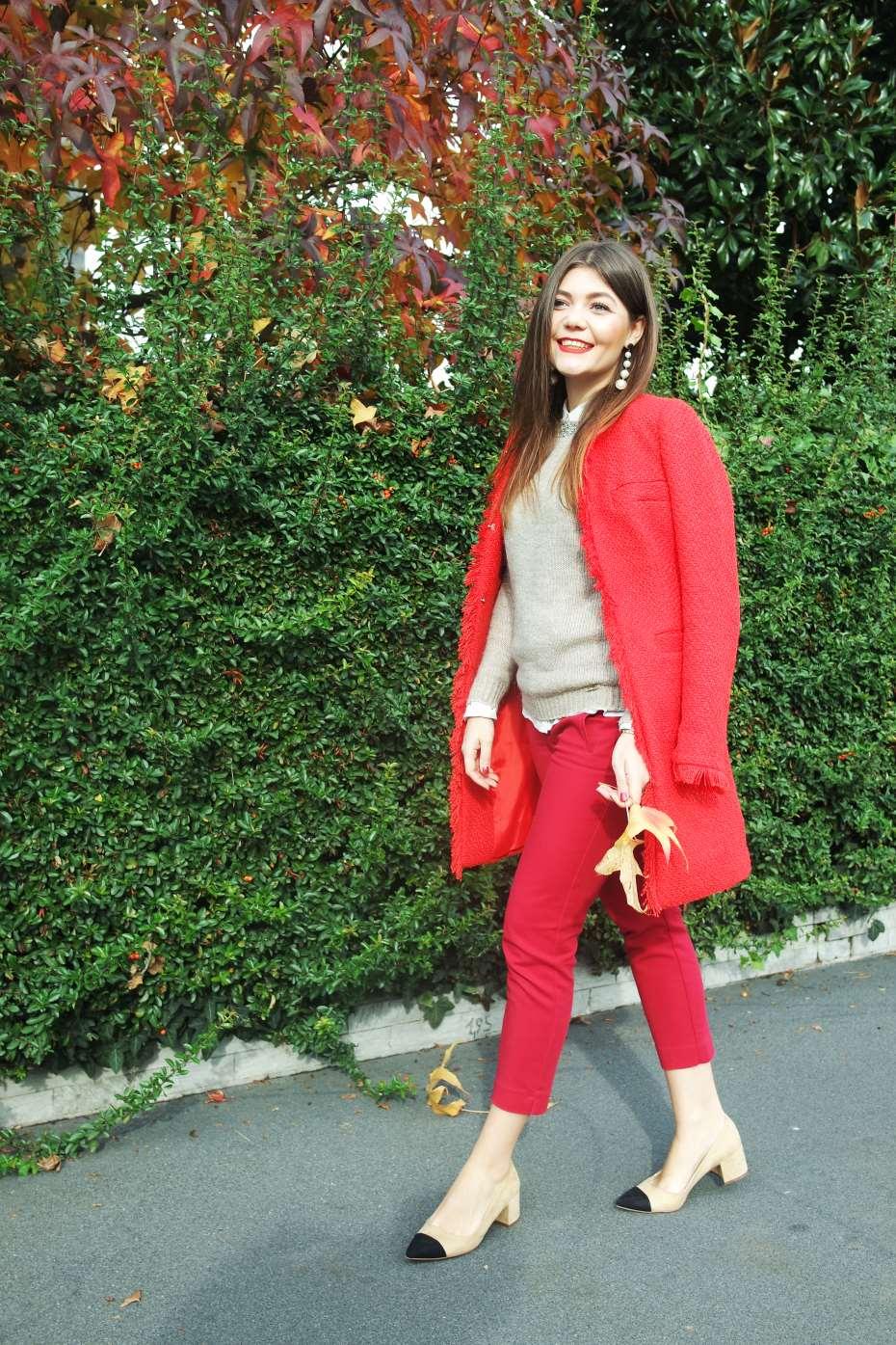Cappotto rosso da giorno