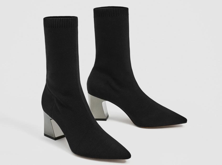 stivali a calzino nero