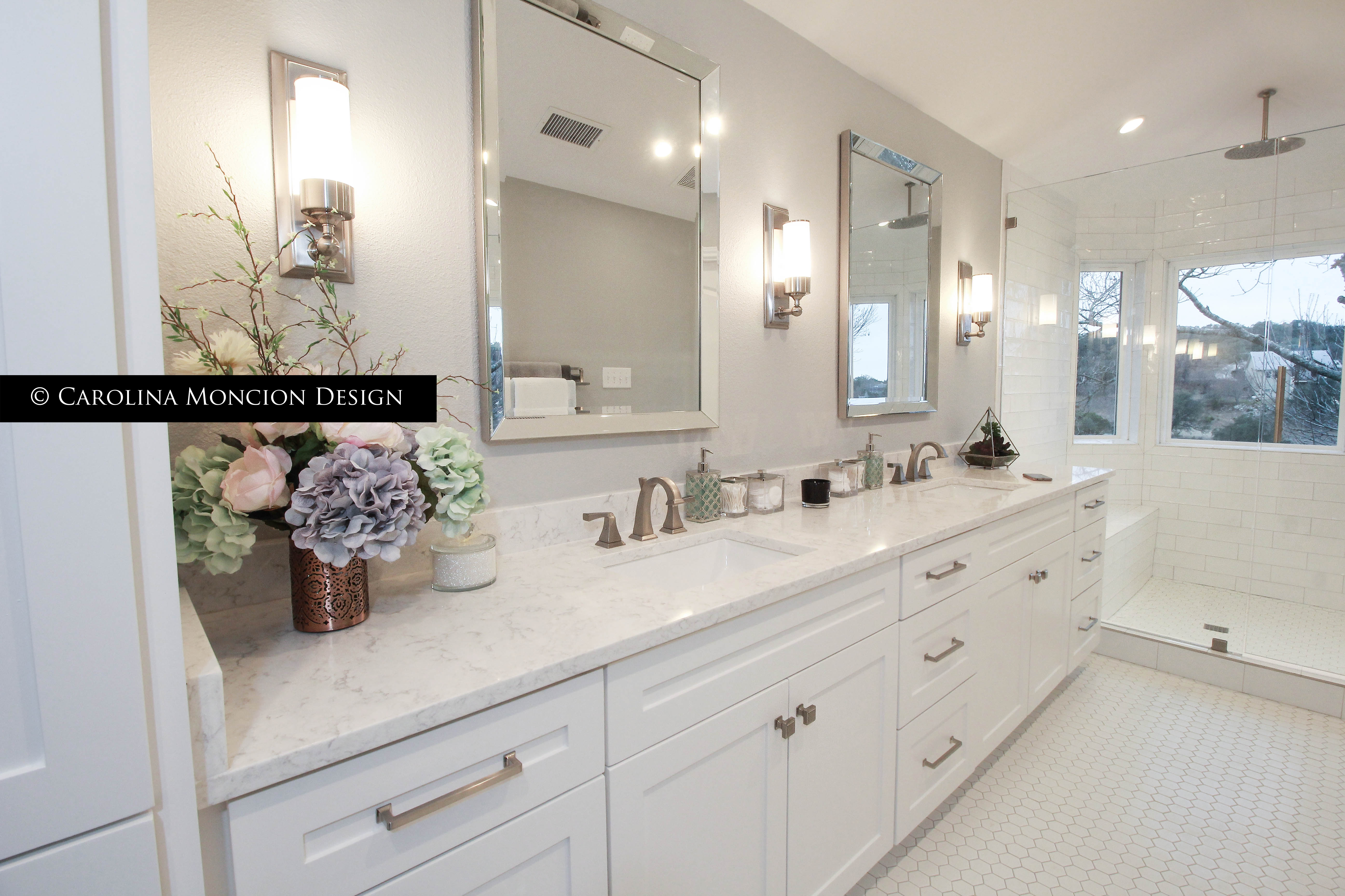 Master Bathroom | Remodeling | Carolina Moncion Design | Canyon Lake Texas  | Garden Ridge Interior