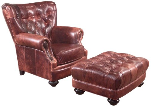 Top Grain Leather Sofa  Carolina Leather Furniture  Pineville Leather Chair