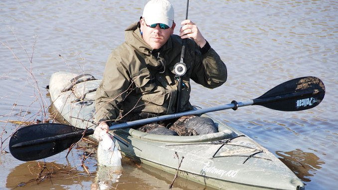 Winter fishing can be more fun than most anglers realize, but in a kayak or other paddlecraft, precautions are necessary.