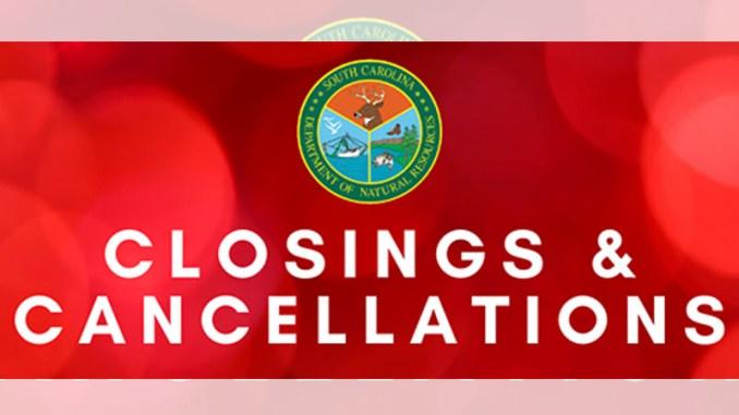 SCDNR cancelations