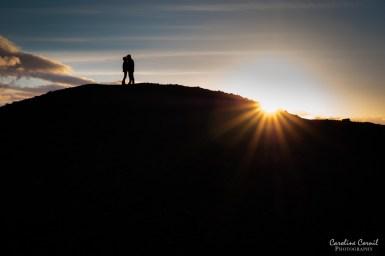 Iceland Hverfjall silhouettes