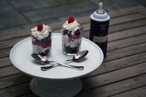 Raspberry Chocolate Parfait Shots {The Recipe ReDux}