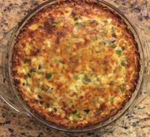 Turkey Bacon Breakfast Quiche with Hash Brown Crust