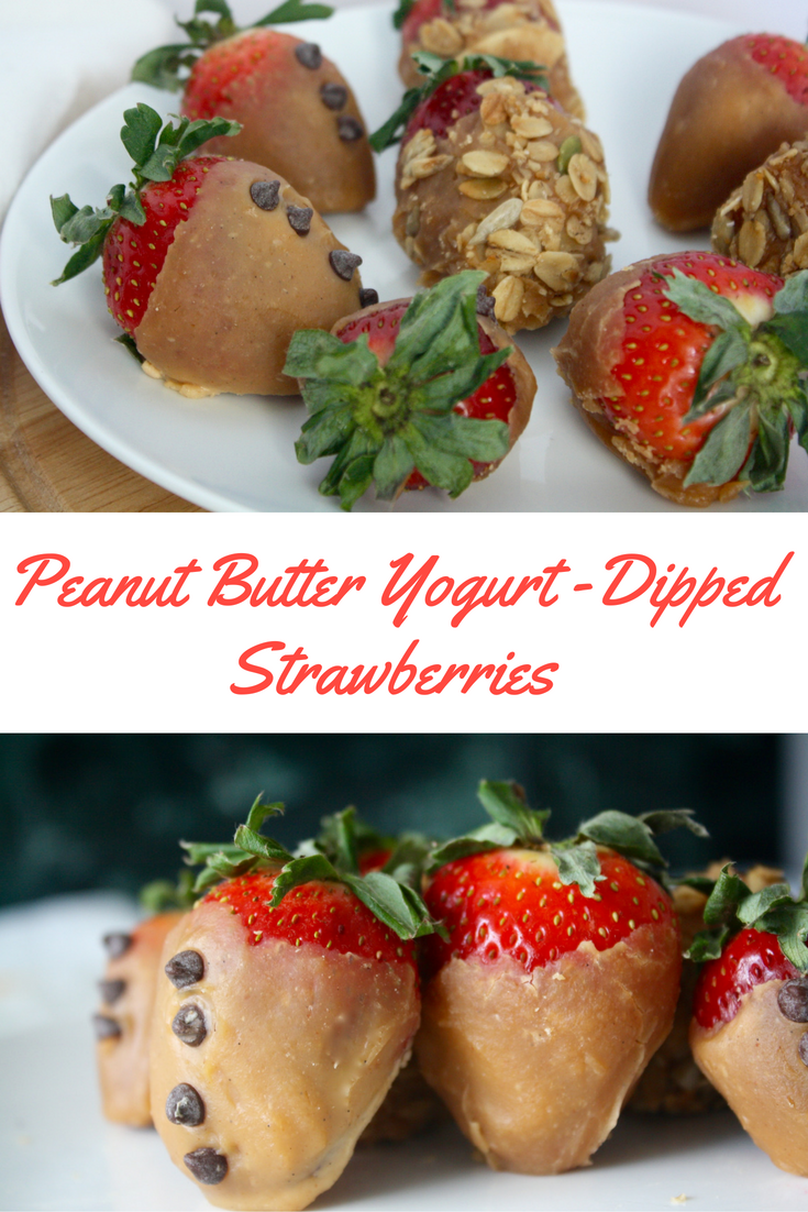 Peanut Butter Yogurt Dipped Strawberries