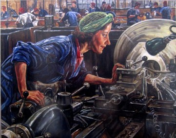 """""""After Laura Knight"""" Acrylic on board Commissioned by Lord Tom Sawyer 50cm x 75cm"""