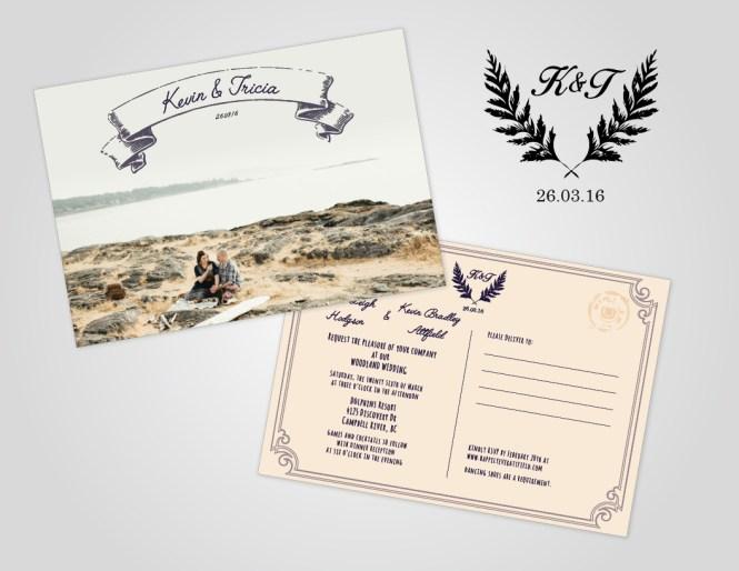 Rustic Wedding Design Invitations Menus And Other Decor