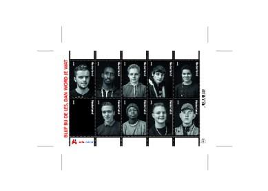 Persoonlijke postzegels voor jongeren die Entree-onderwijs volgen