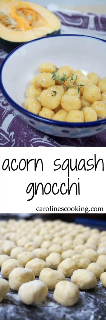Gnocchi are perfect comfort food and these acorn squash gnocchi are some of the best: deliciously savory, light, pillowy & flavorful. A great taste of fall.