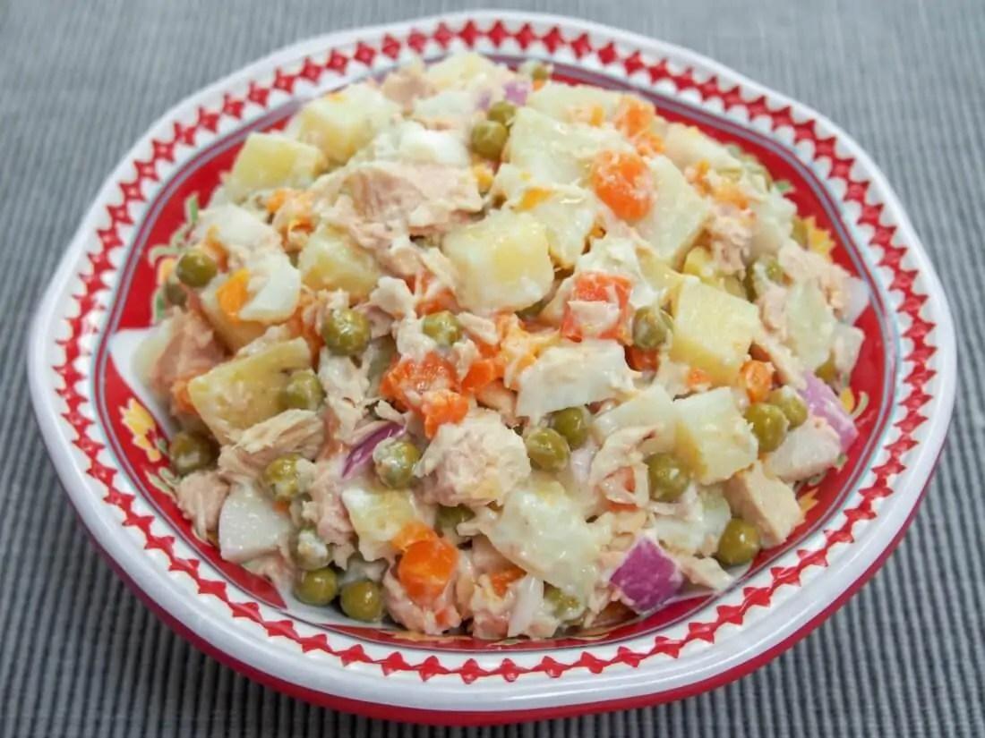 simple summer Spanish tapas (no cook) - ensaladilla rusa