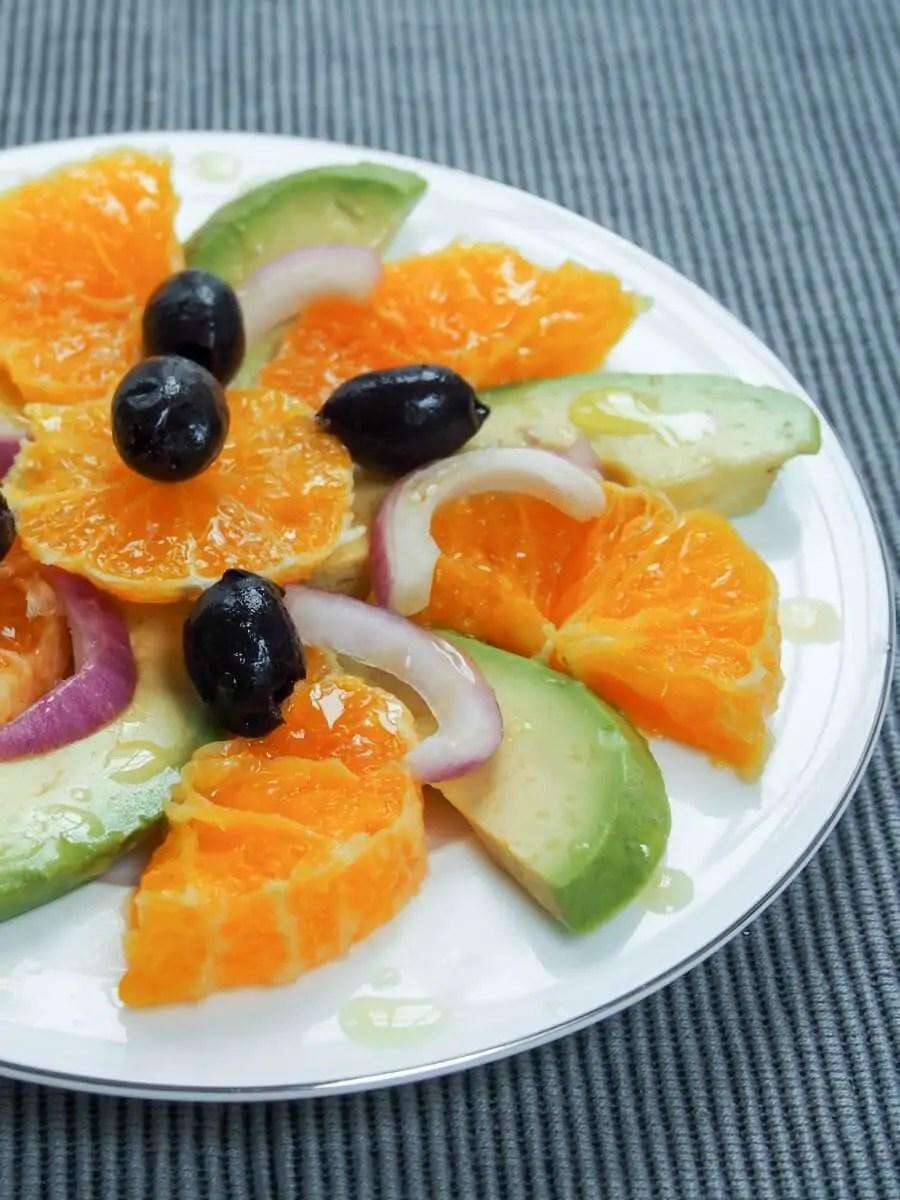 simple summer Spanish tapas (no cook) - orange avocado salad