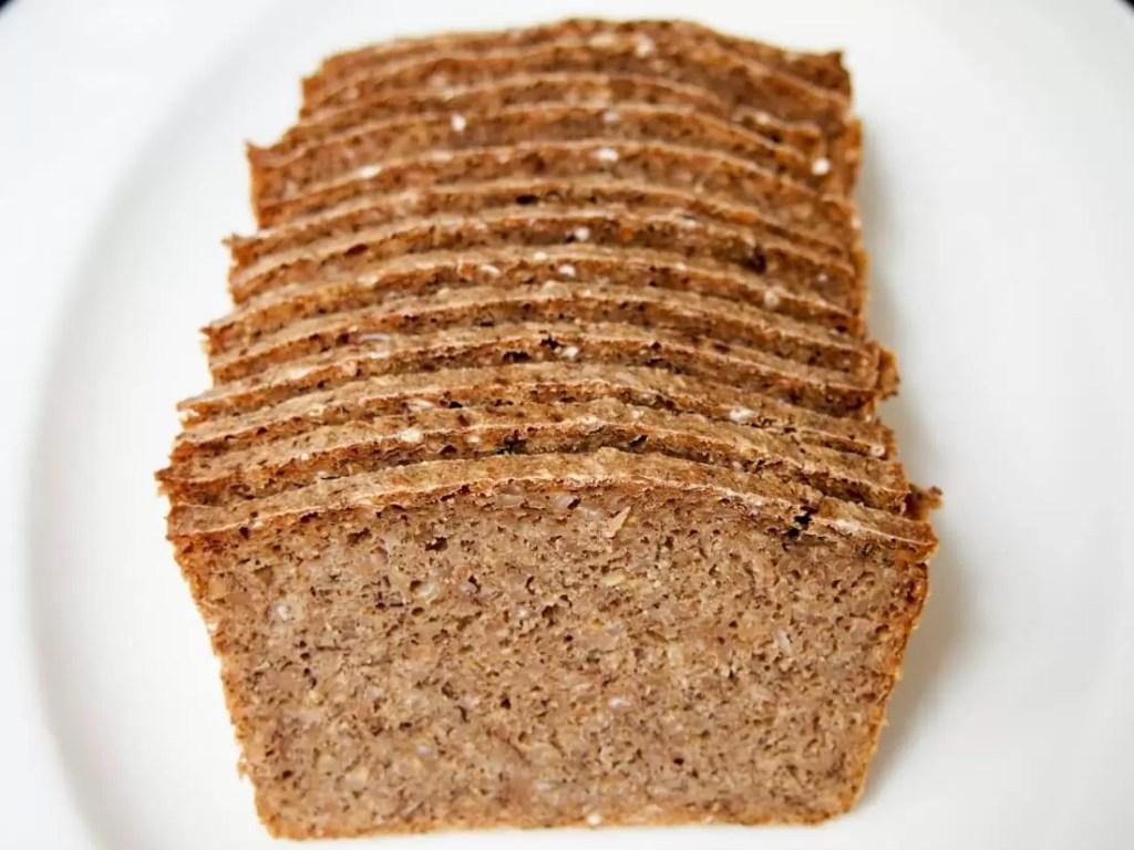 rye bread for Danish smørrebrød (open sandwiches) with remoulade