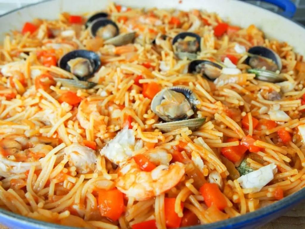 Fideua (Catalan pasta paella) #SundaySupper