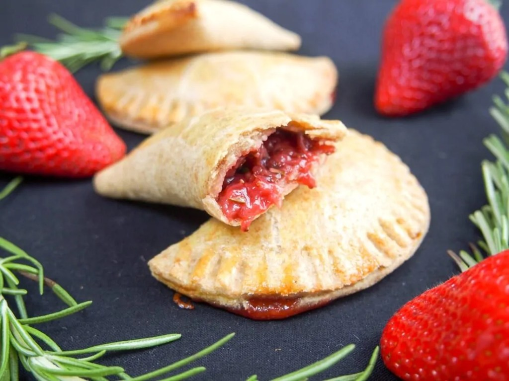 Rosemary-infused strawberry empanadas