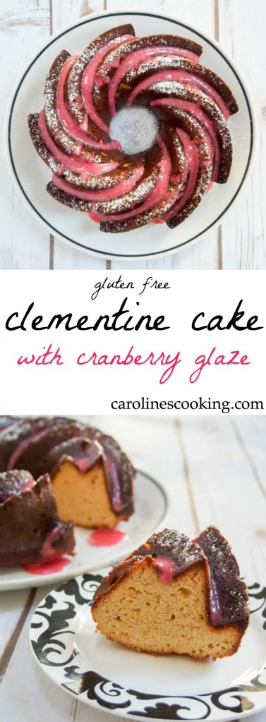 This clementine cake is easy to make and naturally gluten-free, using the whole fruit & ground almonds. A delicious citrus flavor, festive glaze & wonderfully moist. Perfect for sharing.
