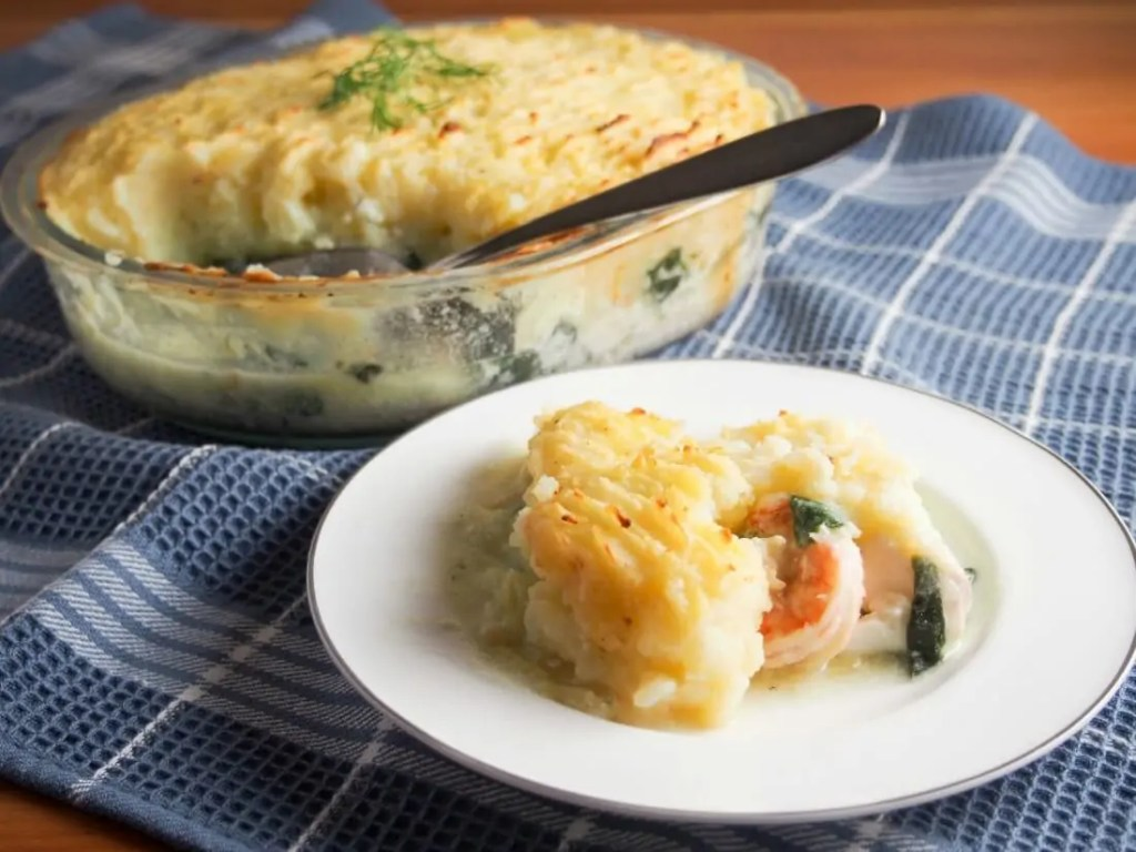 fish pie (potato topped fish bake)