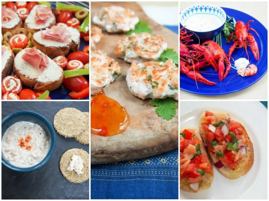 seafood finger food - feast of the seven fishes