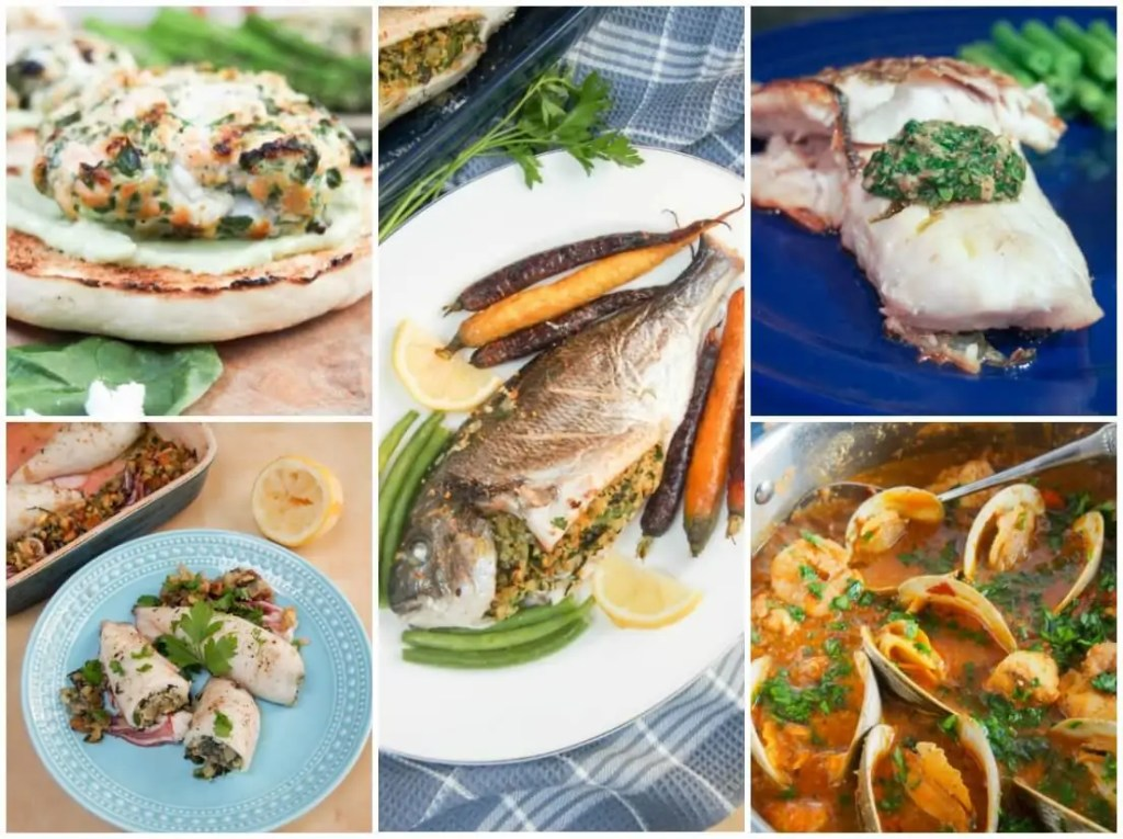seafood main dishes - feast of the seven fishes