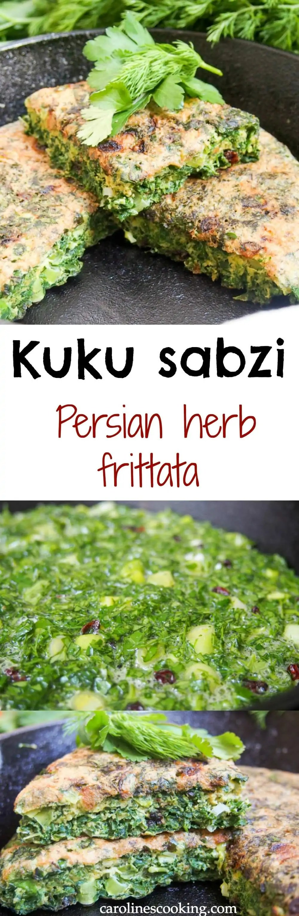 This Persian herb frittata (kuku sabzi) is bright and fresh in both ...