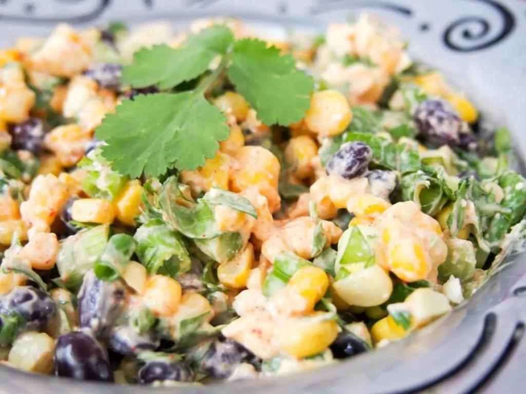Mexican street corn salad #FoodieExtravaganza #MexicanRecipes