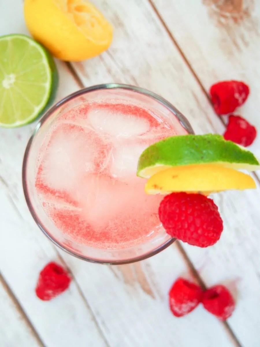 raspberry collins cocktail