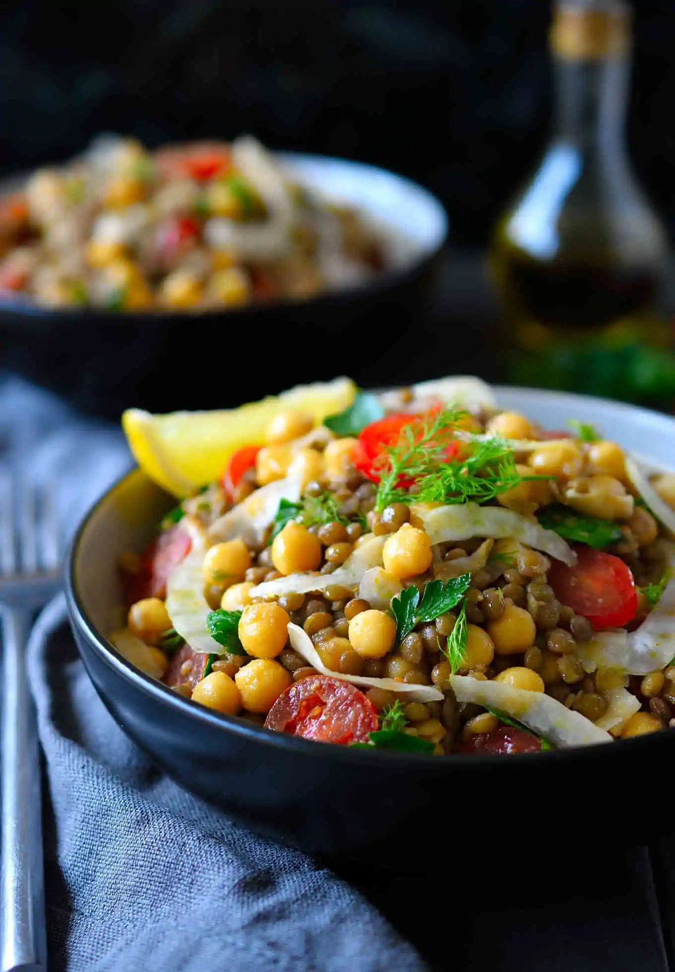 bean lentil salad