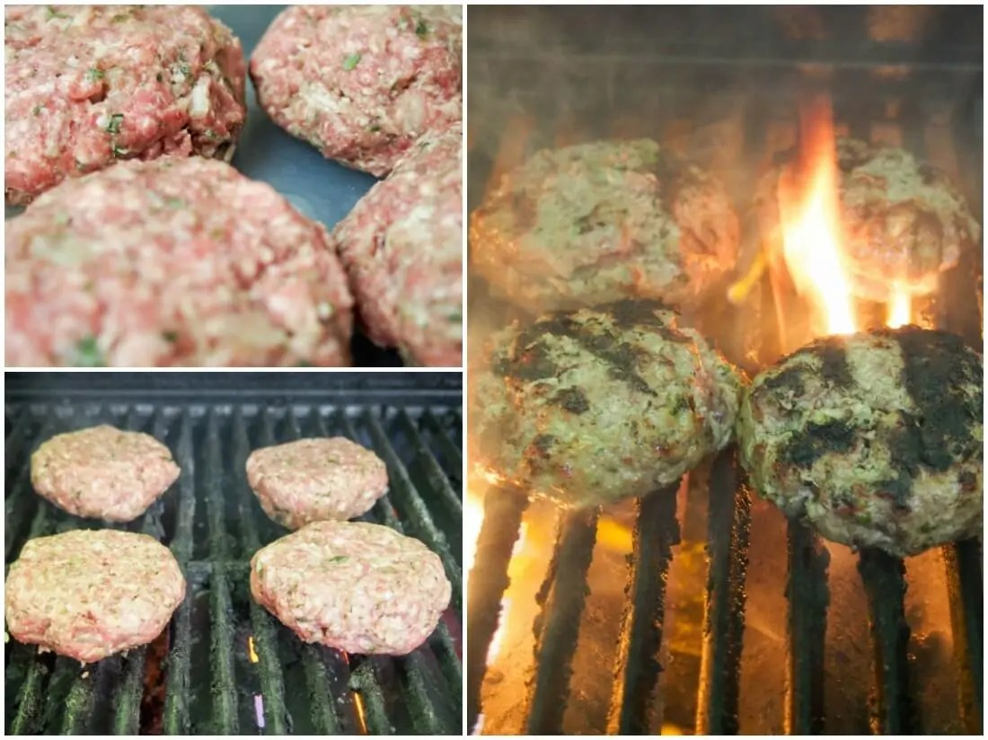 making lamb burgers