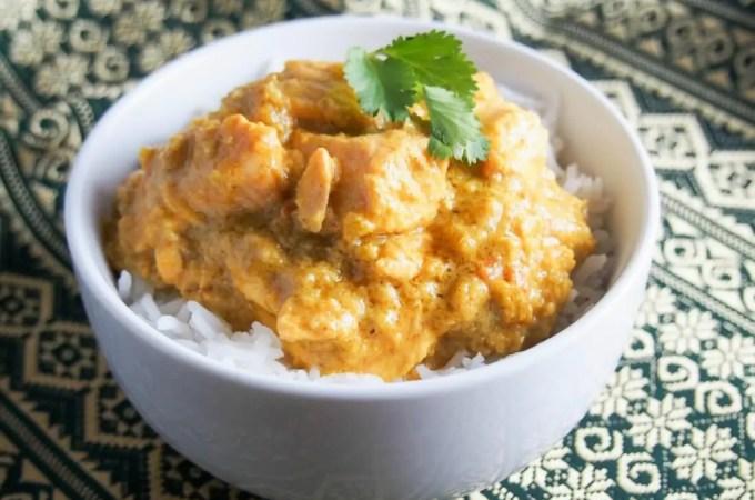 Kid-friendly salmon curry