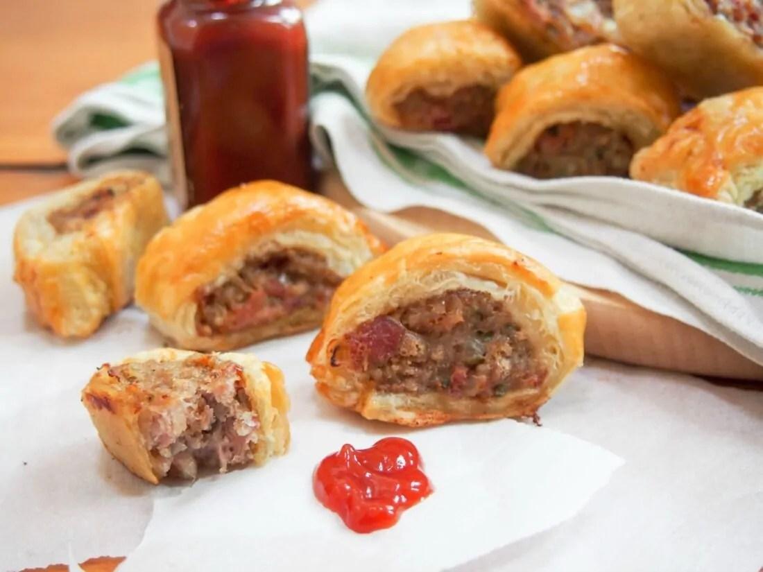 Sausage rolls sundaysupper caroline 39 s cooking for Sausage roll recipe uk