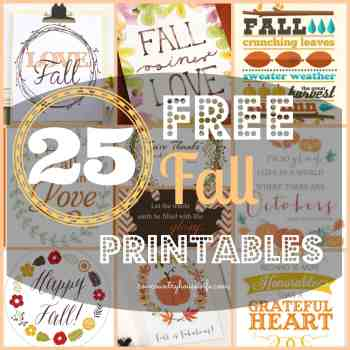25 Free Fall Decor Printables