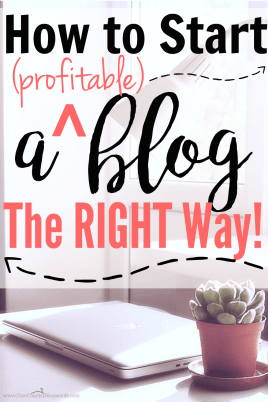 If you want to make money from blogging, you need to start here!! She really goes into detail about how EXACTLY to start a profitable blog the right way!