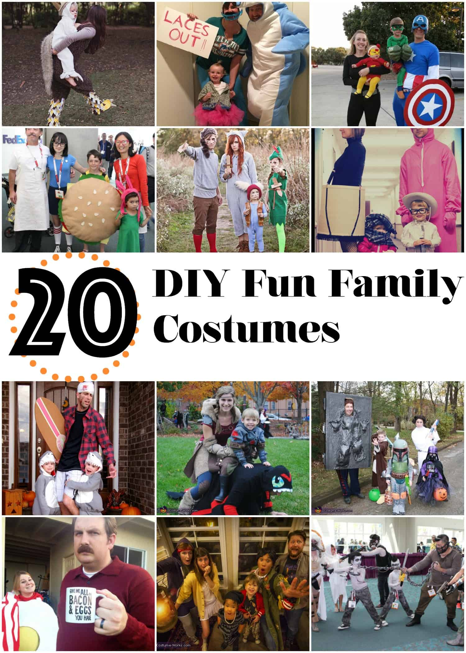 20 DIY Family Halloween Costumes & 20 DIY Fun Family Costumes - The Cow Country Housewife