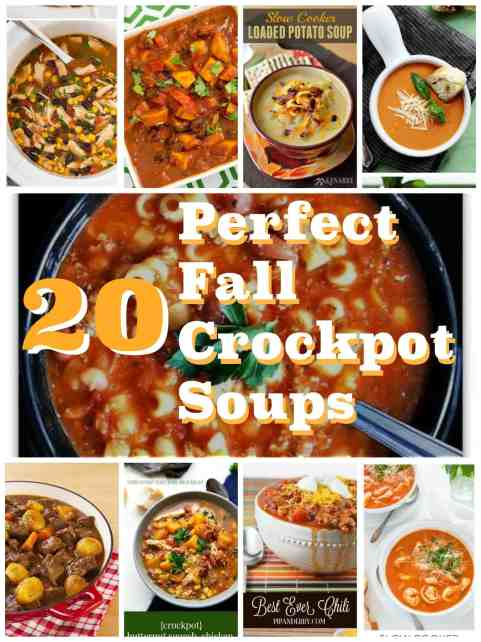 20 Perfect Fall Crockpot Soups. Easy, delicious, simple, fast crockpot soup recipes for the crockpot perfect for cool fall nights. Perfect busy weeknight dinners for busy moms and kids that are kid friendly and budget friendly.