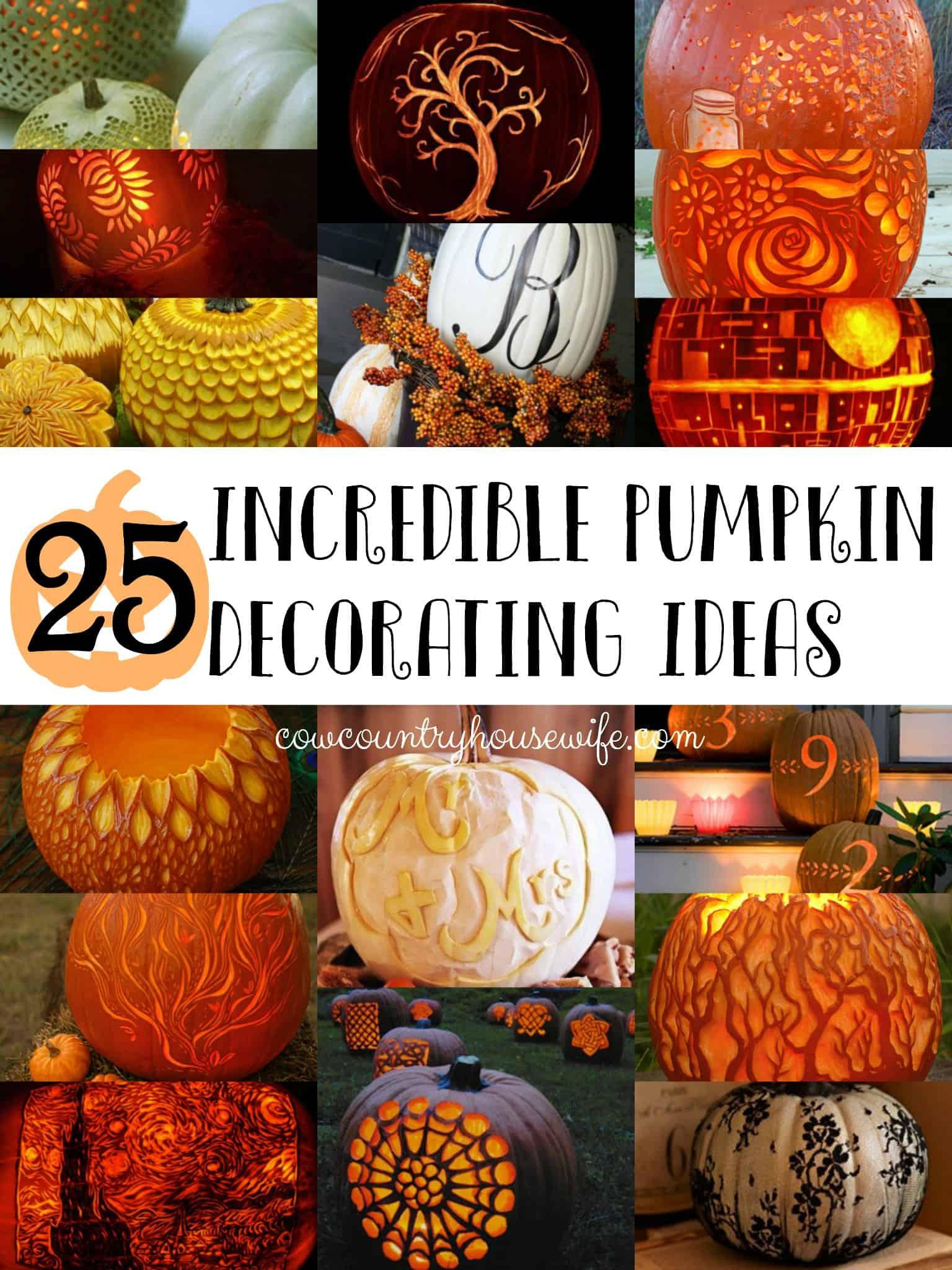 & 25 Incredible Pumpkin Decorating Ideas