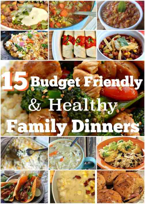 Budget Friendly and Healthy Family Dinners