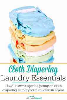 For cloth diapering two sons, I only buy laundry supplies once a year! How is that even possible? I'll share with you how we make it happen!