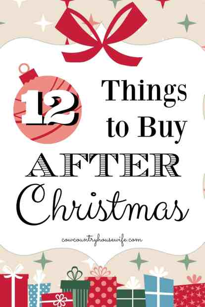 These are amazing! I never thought about how buying things after Christmas could save so much money! These top things to buy after Christmas will save me so much money all year, but especially will save me money next Christmas!