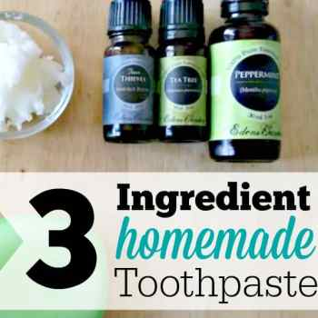 3 Ingredient Homemade Toothpaste